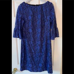 CHAPS blue lace dress